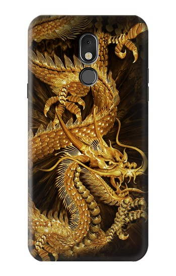 Printed Chinese Gold Dragon Printed LG Stylo 5 Case