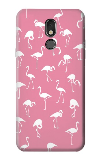 Printed Pink Flamingo Pattern LG Stylo 5 Case