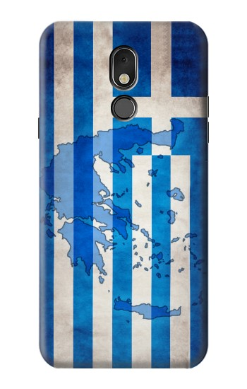 Printed Greece Map Flag LG Stylo 5 Case