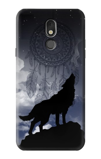 Printed Dream Catcher Wolf Howling LG Stylo 5 Case