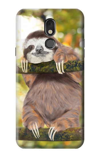 Printed Cute Baby Sloth Paint LG Stylo 5 Case
