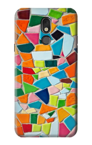 Printed Abstract Art Mosaic Tiles Graphic LG Stylo 5 Case