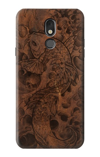 Printed Fish Tattoo Leather Graphic Print LG Stylo 5 Case
