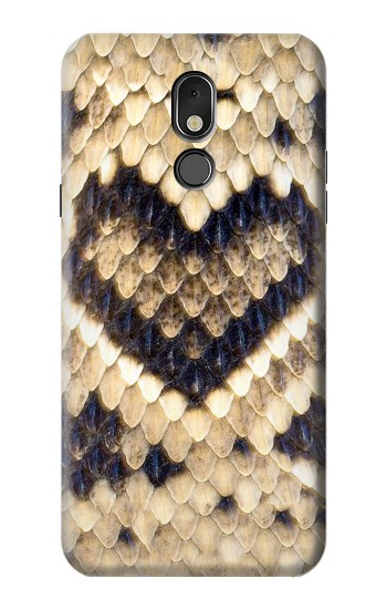 Printed Diamond Rattle Snake Graphic Print LG Stylo 5 Case