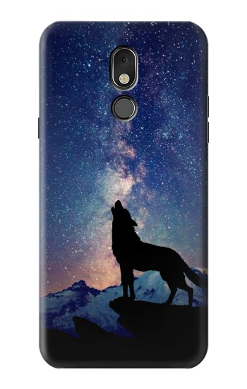 Printed Wolf Howling Million Star LG Stylo 5 Case