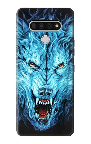 Printed Blue Fire Grim Wolf LG Stylo 6 Case