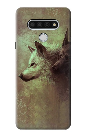 Printed White Black Wolf LG Stylo 6 Case