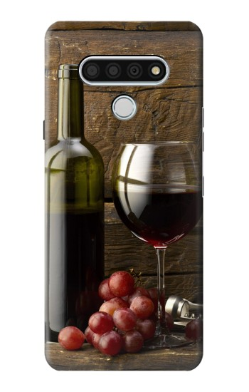 Printed Grapes Bottle and Glass of Red Wine LG Stylo 6 Case