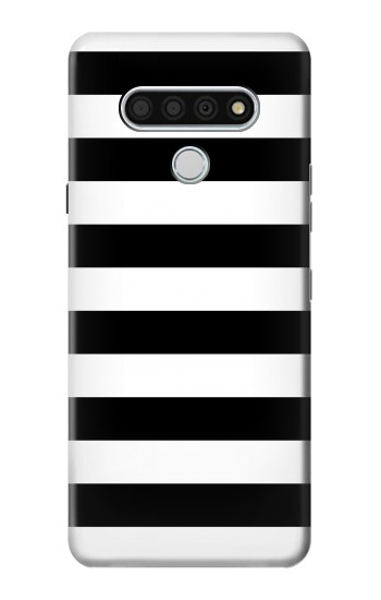 Printed Black and White Striped LG Stylo 6 Case