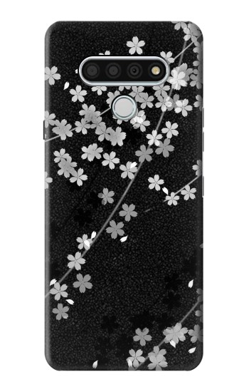 Printed Japanese Style Black Flower Pattern LG Stylo 6 Case