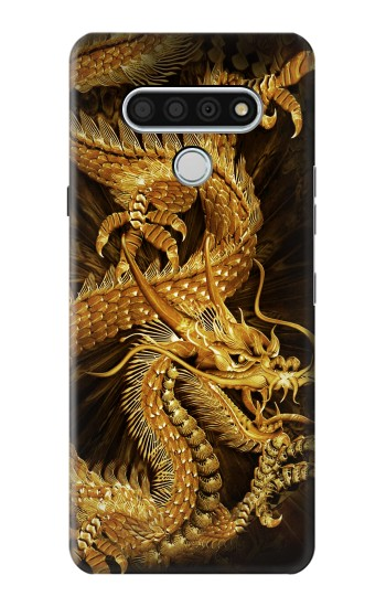 Printed Chinese Gold Dragon Printed LG Stylo 6 Case