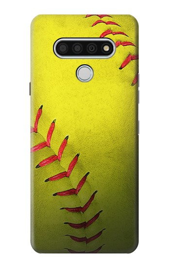 Printed Yellow Softball Ball LG Stylo 6 Case