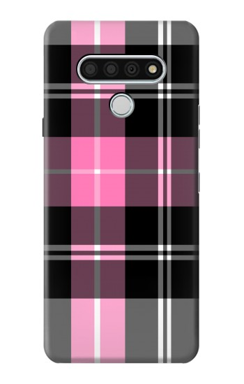 Printed Pink Plaid Pattern LG Stylo 6 Case