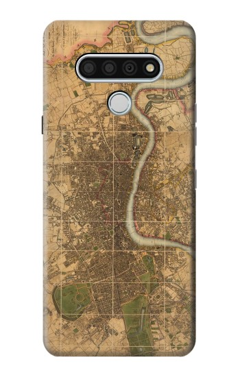 Printed Vintage Map of London LG Stylo 6 Case