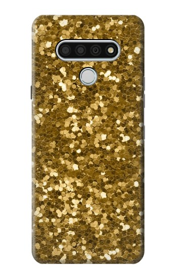 Printed Gold Glitter Graphic Print LG Stylo 6 Case