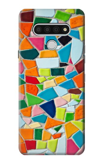 Printed Abstract Art Mosaic Tiles Graphic LG Stylo 6 Case