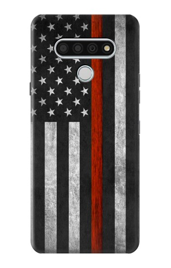Printed Firefighter Thin Red Line Flag LG Stylo 6 Case