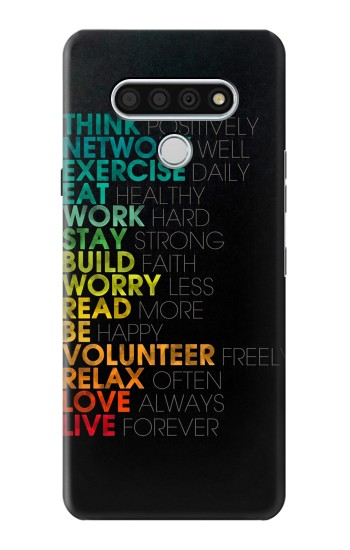 Printed Think Positive Words Quotes LG Stylo 6 Case