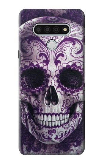 Printed Purple Sugar Skull LG Stylo 6 Case