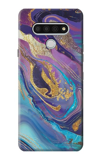 Printed Colorful Abstract Marble Stone LG Stylo 6 Case
