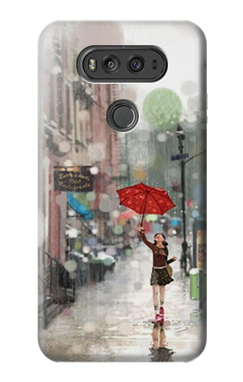 Printed Girl in The Rain LG G Flex 2 Case