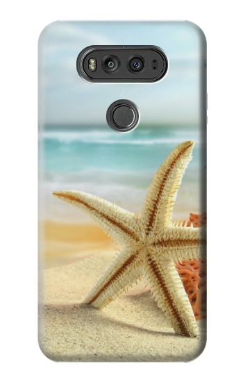 Printed Starfish on the Beach LG G Flex 2 Case