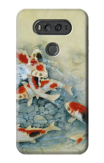 Printed Koi Carp Fish Art Painting LG G Flex 2 Case