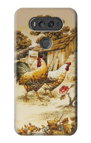 Printed French Country Chicken LG G Flex 2 Case