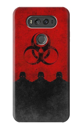 Printed Virus Red Alert LG G Flex 2 Case