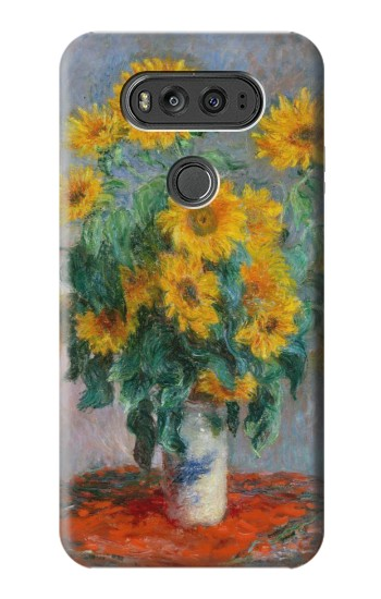 Printed Claude Monet Bouquet of Sunflowers LG G Flex 2 Case