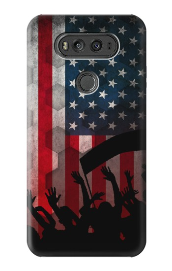 Printed USA American Football Flag LG G Flex 2 Case