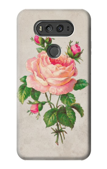 Printed Vintage Pink Rose LG G Flex 2 Case