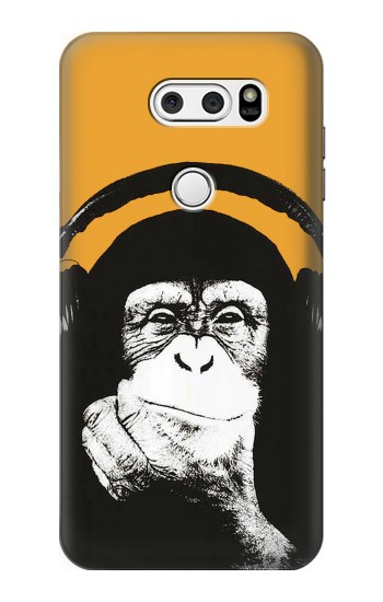 Printed Funny Monkey with Headphone Pop Music LG L90 D405 Case