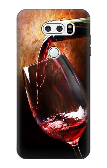 Printed Red Wine Bottle And Glass LG L90 D405 Case