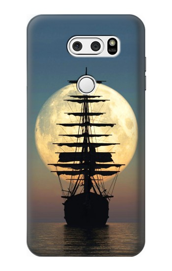 Printed Pirate Ship Moon Night LG L90 D405 Case