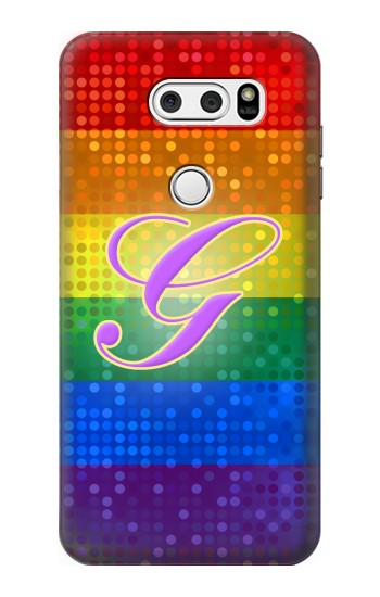 Printed Rainbow Gay Pride Flag Device LG L90 D405 Case