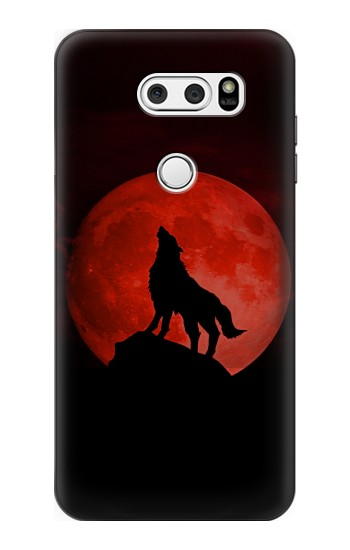 Printed Wolf Howling Red Moon LG L90 D405 Case