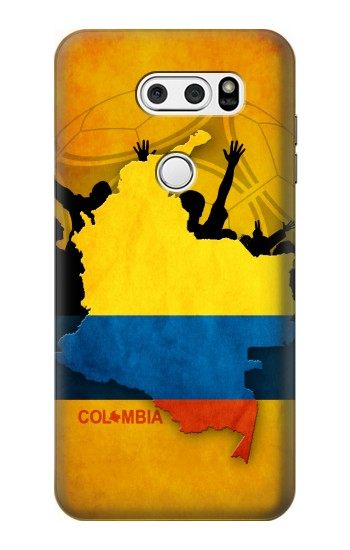 Printed Colombia Football Flag LG L90 D405 Case