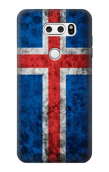 Printed Iceland Football Flag LG L90 D405 Case