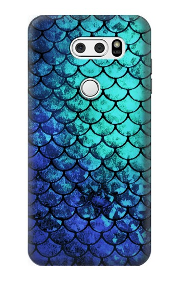 Printed Green Mermaid Fish Scale LG L90 D405 Case