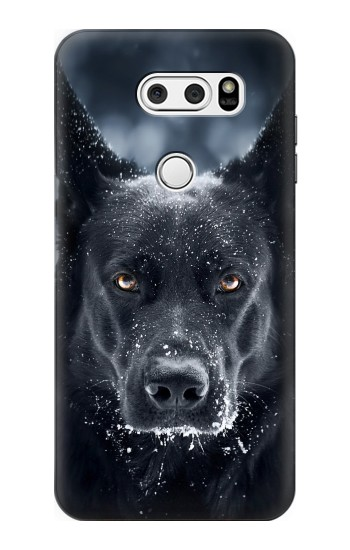 Printed German Shepherd Black Dog LG L90 D405 Case