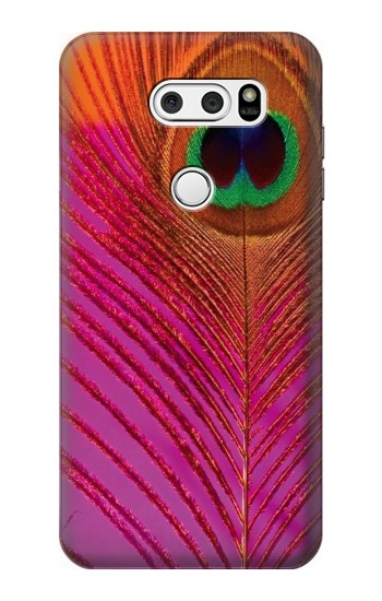 Printed Pink Peacock Feather LG L90 D405 Case