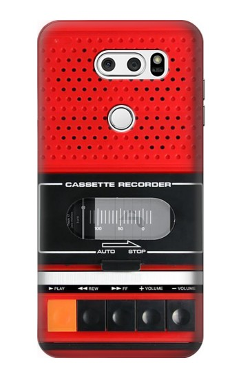 Printed Red Cassette Recorder Graphic LG L90 D405 Case