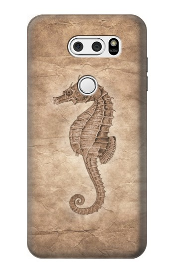 Printed Seahorse Old Paper LG L90 D405 Case