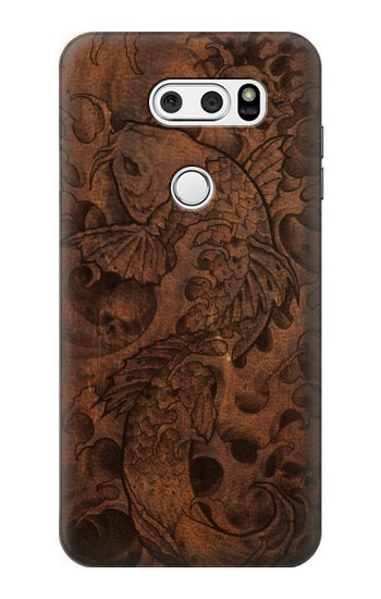 Printed Fish Tattoo Leather Graphic Print LG L90 D405 Case