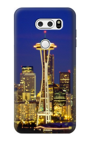 Printed Space Needle Seattle Skyline LG L90 D405 Case