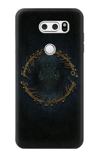 Printed Lord of The Rings Ring Elf Writing LG L90 D405 Case