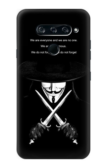 Printed V Mask Guy Fawkes Anonymous LG V40 ThinQ Case