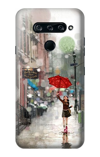 Printed Girl in The Rain LG V40 ThinQ Case