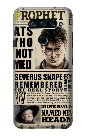 Printed Harry Potter Daily Prophet LG V40 ThinQ Case